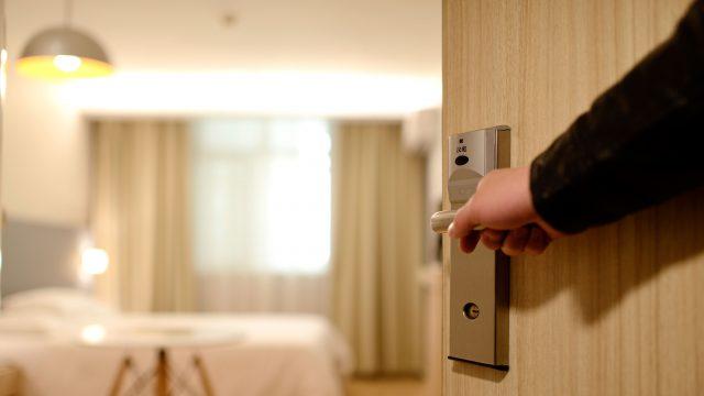 Concierge Hotel Door Stock Image
