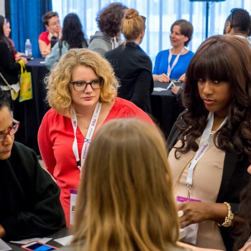 SXSW EDU 2017 EdTechWomen Meet Up lead by Margaret Roth. Photo by Robert Santos.