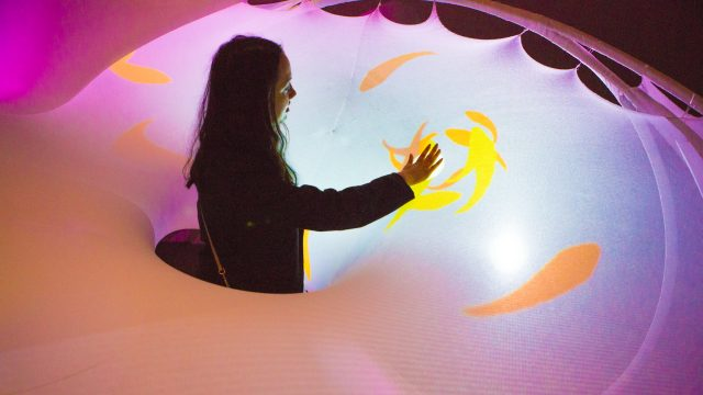 Social Sensory Architectures Lounge participate at SXSW EDU 2017. Photo by Akash Kataria.