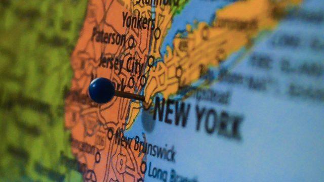 United States Map, New York.