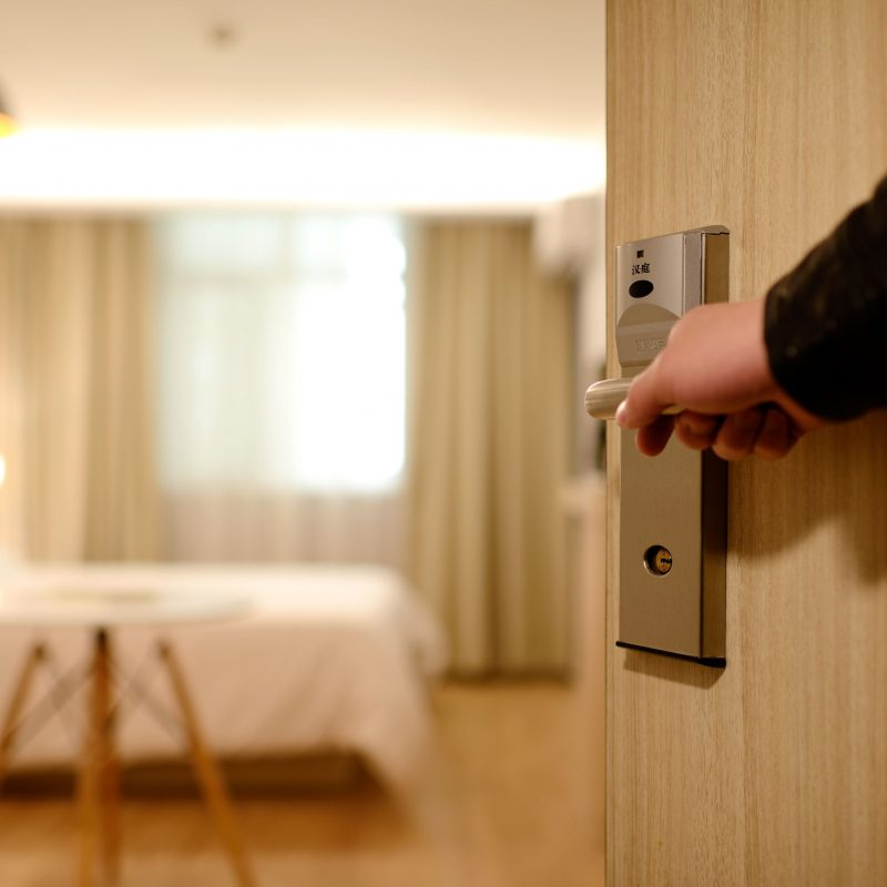 Concierge Hotel Door Stock Image