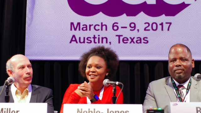 SXSW EDU 2017 PanelPicker Session - Case Study, Facing Ferguson: A News Literacy Case Study featuring Alan Miller, Brittany Noble-Jones, Callie Crossley, Steve Becton. Photo by Kara Mosher.