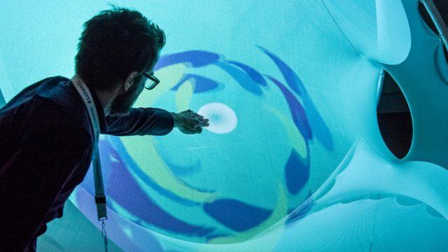 SXSW EDU interactive social sensory lounge. Photo by David Rackley.