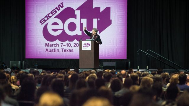 Dr. Temple Grandin 2016 SXSWedu keynote. Photo by Rob Santos