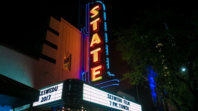 SXSW EDU 2017 Tower Film Screening at Stateside Theatre, Austin, TX. Photo by Steven Snow.