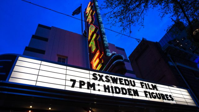 Hidden Figures film screening at SXSW EDU 2017 in Austin, Texas. Photo by Steve Rogers.