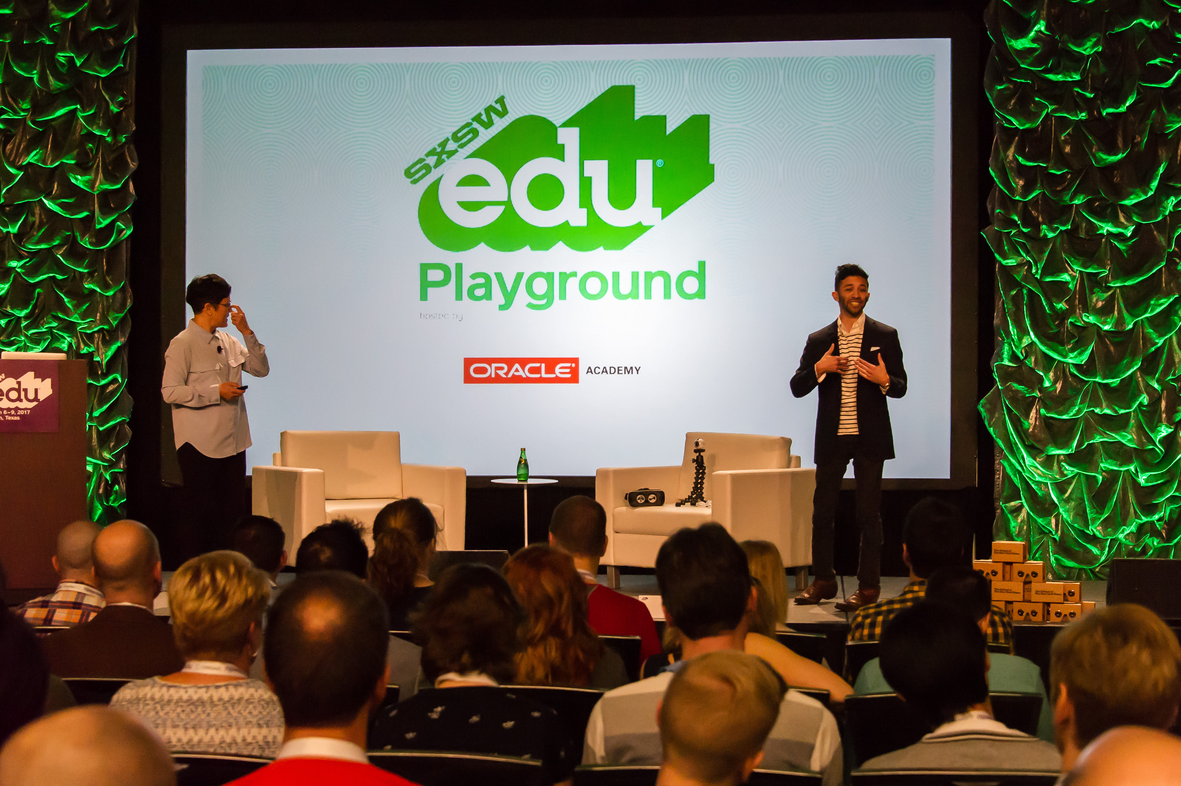 SXSW EDU 2017 Playground talk, Virtual Reality in Education -- Best Practices? Photo by David Rackley.