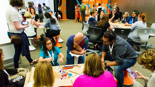 SXSW EDU 2017 Playground, Hands On activity, at the Austin Convention Center.