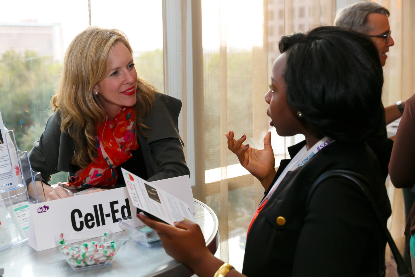 SXSWedu Startup Showcase, featuring Cell-Ed startup. Photo by Diego Donamaria.