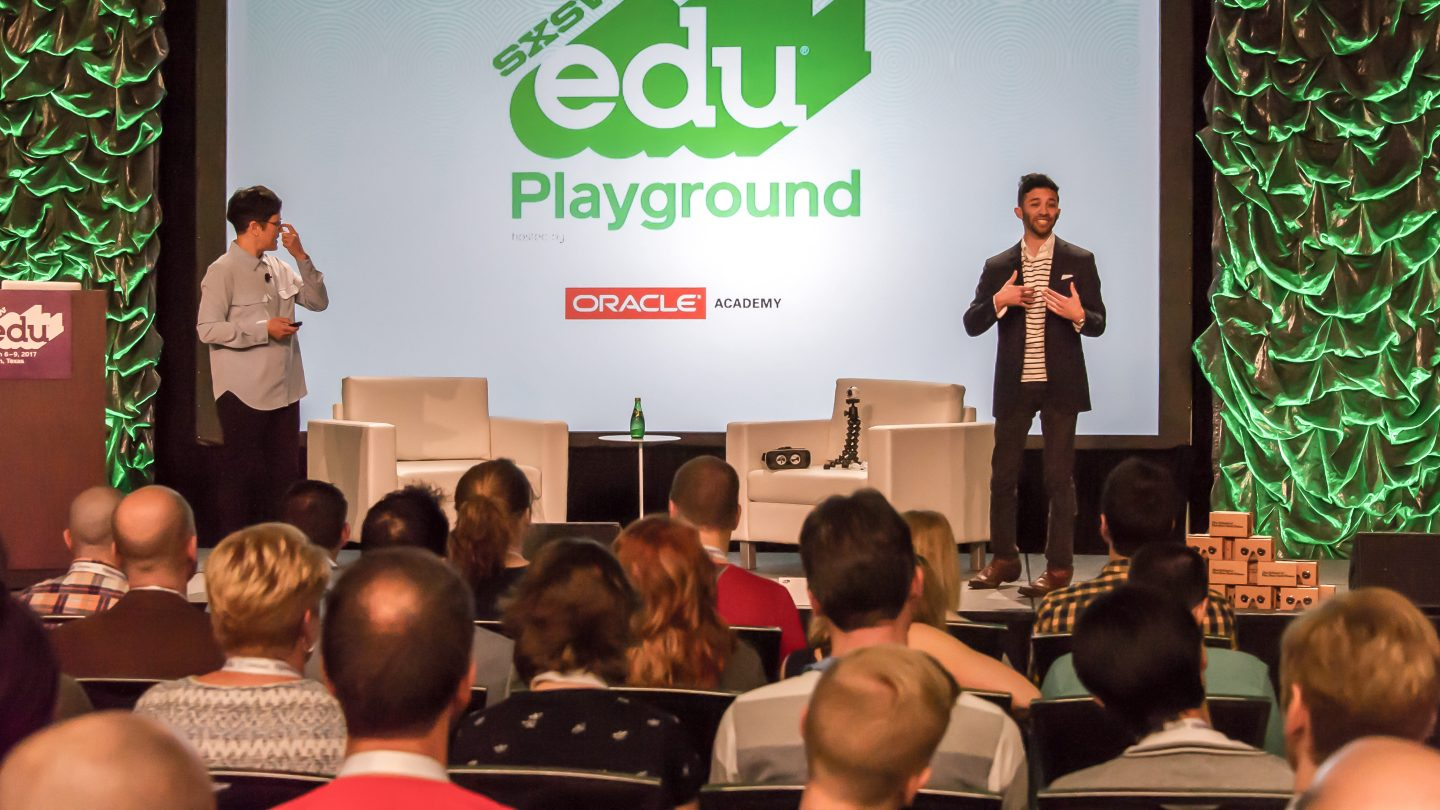 SXSW EDU Playground Talk, Virtual Reality in Education -- Best Practices?, with Dr Audrey Heinesen and Kevin Alster.