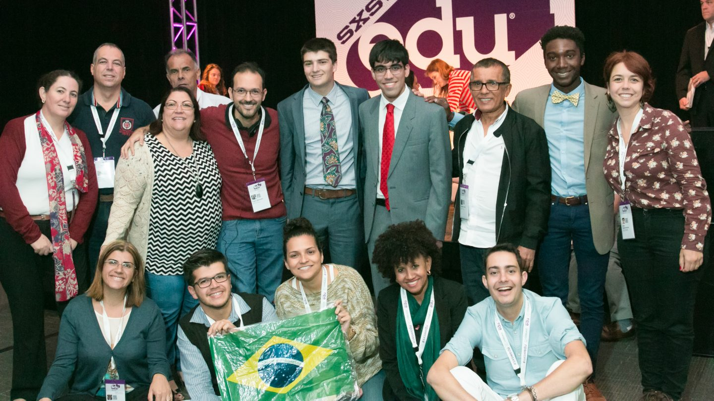 SXSW EDU team of attendees. Photo by Vic Hu.