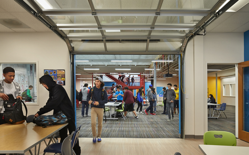 SXSW EDU 2018 Learn by Design Finalists - Sierra High School - Summit Public Schools. Seattle, Washington Image license: NAC Architecture, Kirtley-Cole, DCI Engineers and Summit Public Schools - Sierra High School.