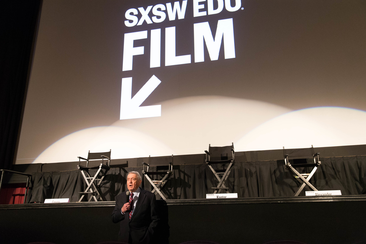 SXSW EDU Film 2018, Fail State introduction by Dan Rather. Photo by Steve Rogers.