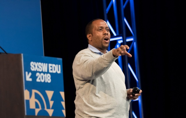 SXSW EDU 2018 Featured Speaker, Jose Luis Vilson. Photo by Steven Snow.