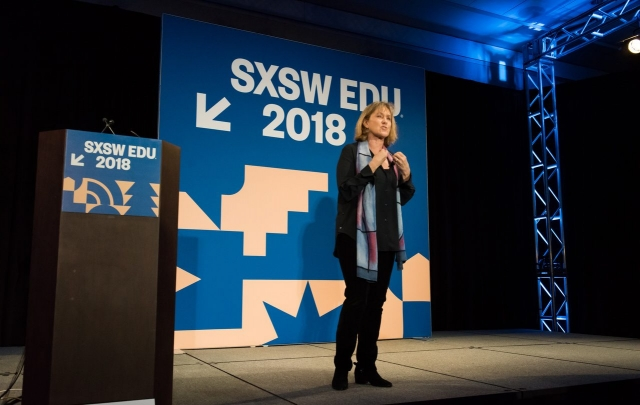 SXSW EDU 2018 Featured Speaker, Karen Cator. Photo by Amanda Stronza.