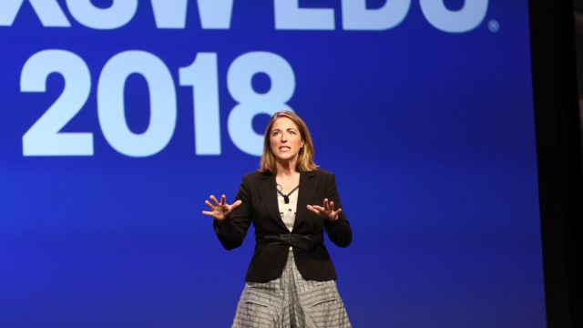Jessica Lahey Teaching the Gift of Failure keynote at SXSW EDU 2018. Photo by Diego Donamaria.