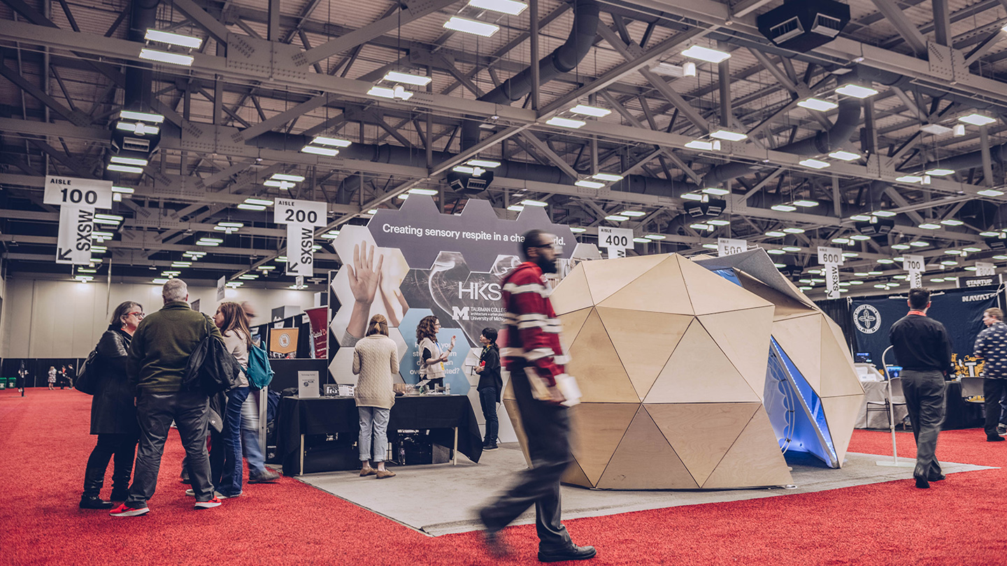 HKS Architects Activation at the SXSW EDU 2019 Expo. Photo by Matthew Bradford.