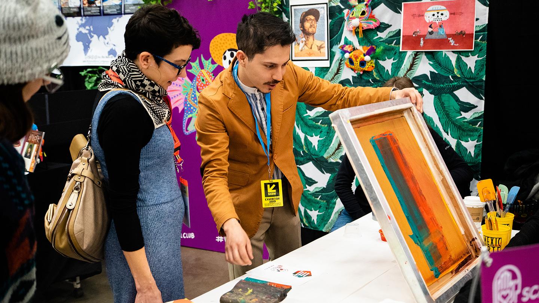 Mexic-Arte Screen Printing at the SXSW EDU 2019 Playground. Photo by Kit McNeil.