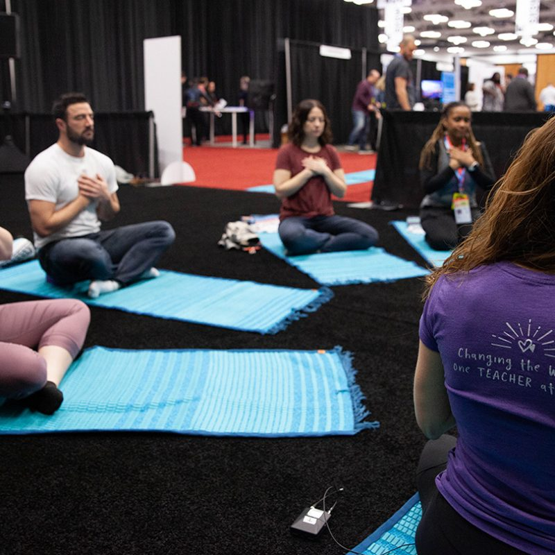 Breathe For Change Wellness Studio at the SXSW EDU 2019 Expo. Photo by Debra Reyes.