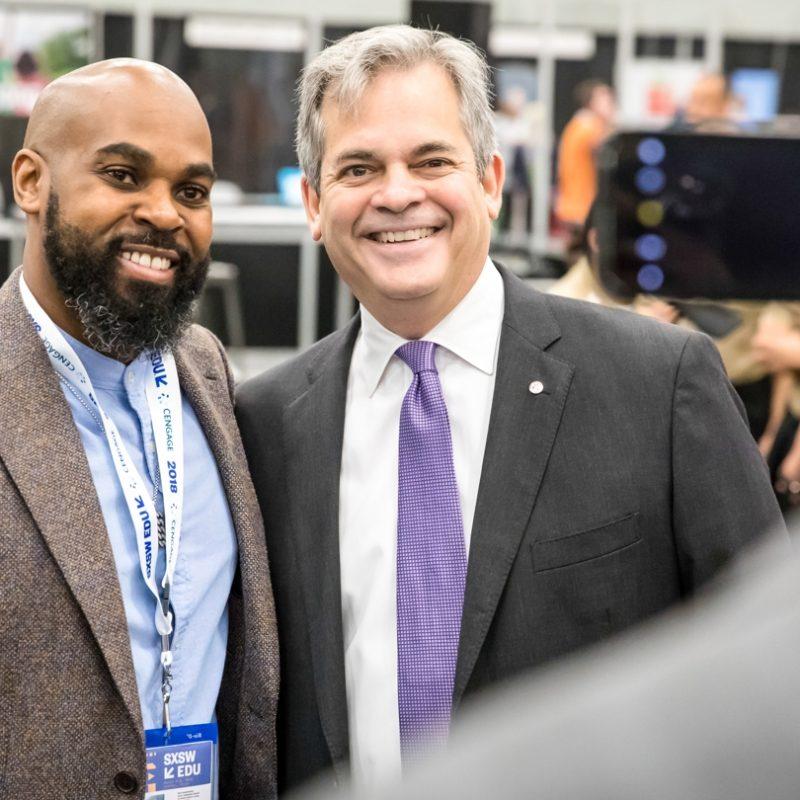 Austin Mayor Meet Up with Steve Adler at SXSW EDU 2018 Expo. Photo by Bob Johnson.
