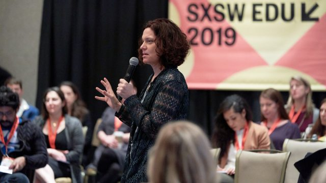 Connie Yowell speaking during SXSW EDU 2019 session, Building Equitable Education Ecosystems.