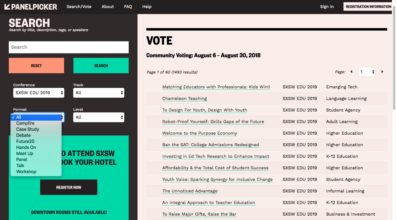 PanelPicker Voting Format