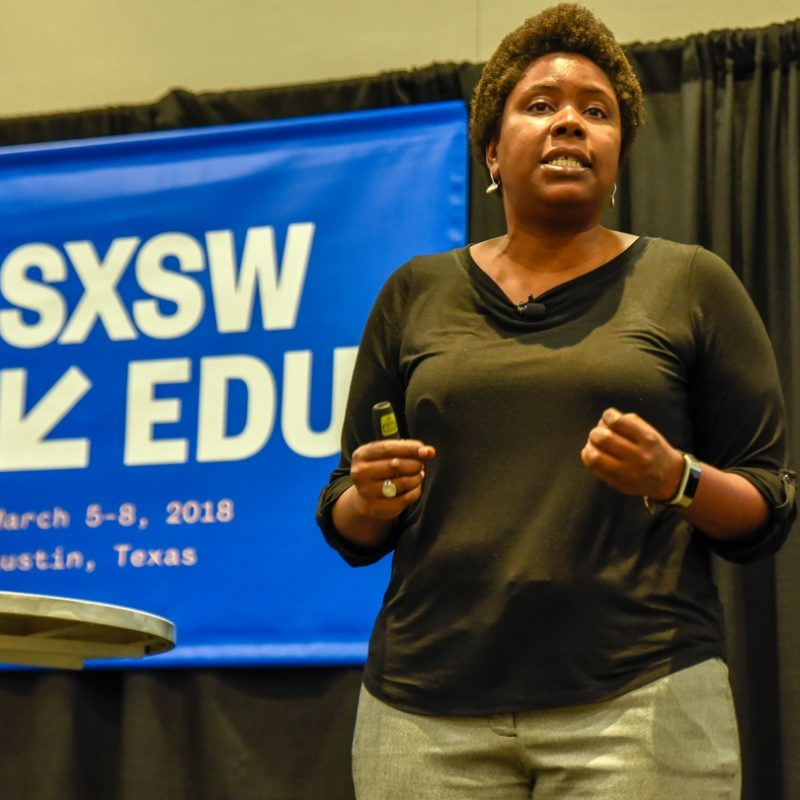 SXSW EDU 2018 Future20 session, Black Teacher Sustainability, featuring Micia Mosely.