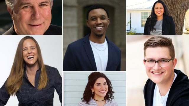 Mitch Jacobson, Ogden Payne, Sylvia Butanda, Sarah Hernholm, Rachel Musquiz, and Koby Wheeler.