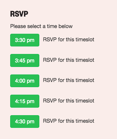 SXSW EDU RSVP in schedule