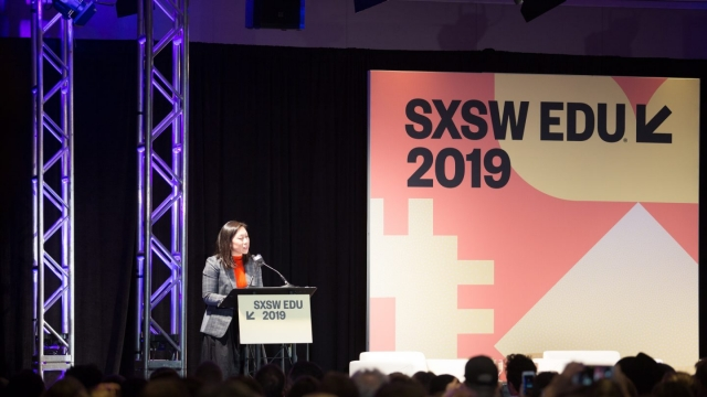 Priscilla Chan Introducing Translating Research into Practice at SXSW EDU 2019. Photo by Sophie Milton.