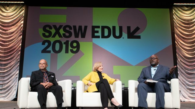 Henry Louis Gates Jr & Paula Kerger keynote at SXSW EDU, Reconstruction: America After the Civil War. Photo by Alexa Gonzalez.