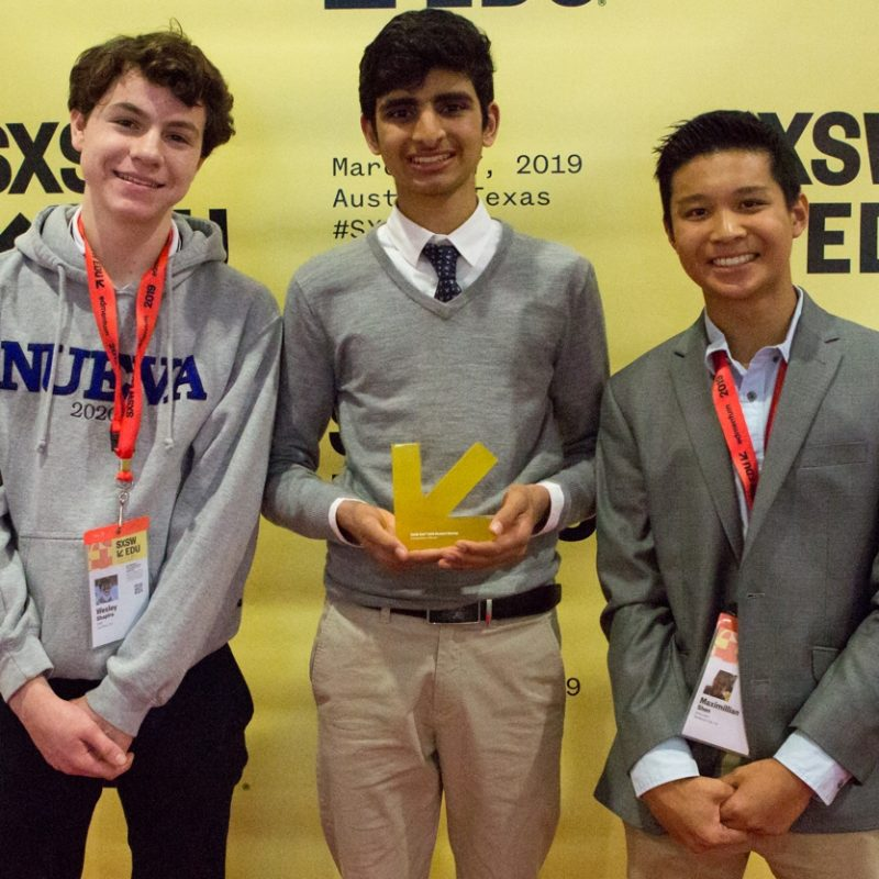 Stria Labs student founders at SXSW EDU 2019.