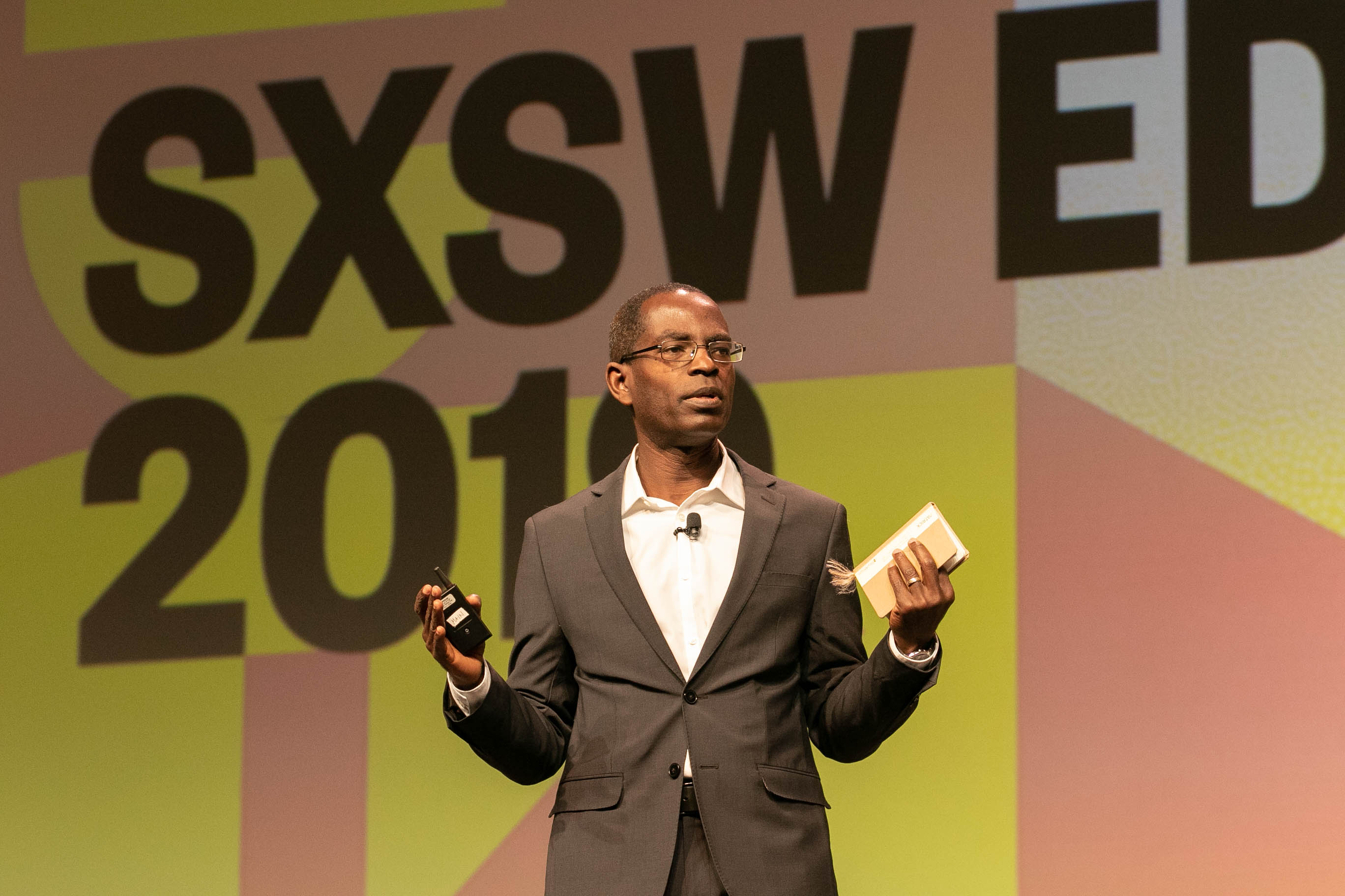 Patrick Awuah Jr Keynote at SXSW EDU 2019. Photo by Steven Snow.