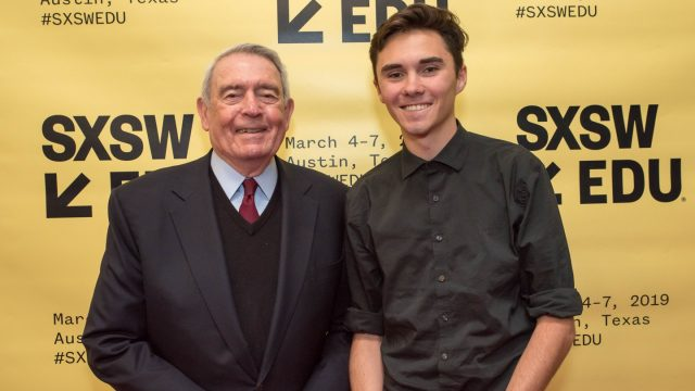 David Hogg & Dan Rather on Young People Win: Rethinking Advocacy in a New Era at SXSW EDU 2019.