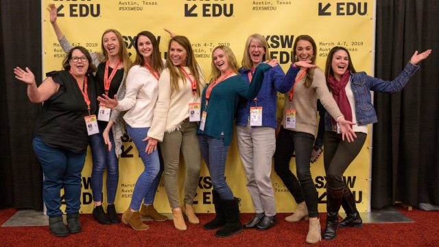 SXSW EDU 2019 attendees at the convention center.