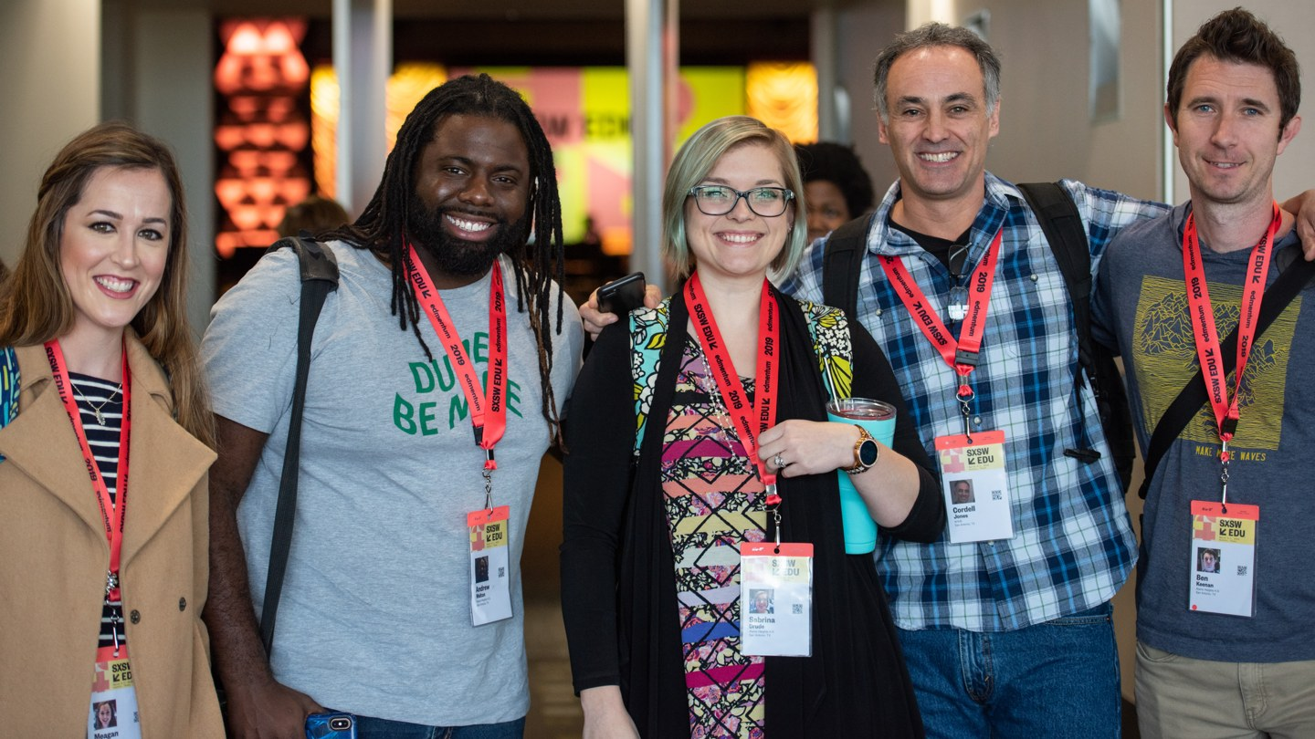 Group of registered attendees at SXSW EDU 2019.