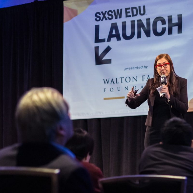 SXSW EDU 2019 Launch competition pitch. Photo by Holly Jee.