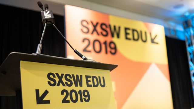 SXSW EDU 2019 Atmosphere Podium photo by Tico Mendoza