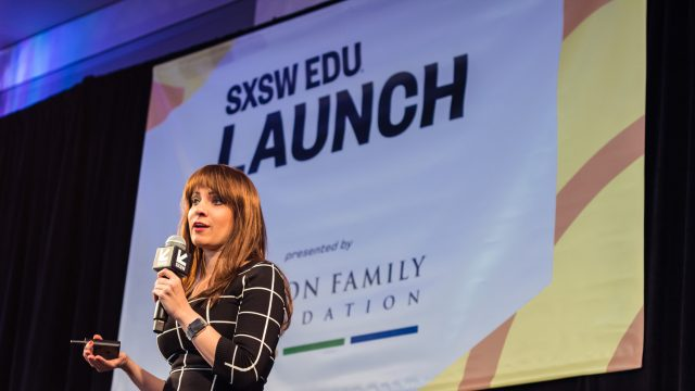Launch Competition, hosted by the Walton Family Foundation, at SXSW EDU 2019. Photo by Holly Jee.