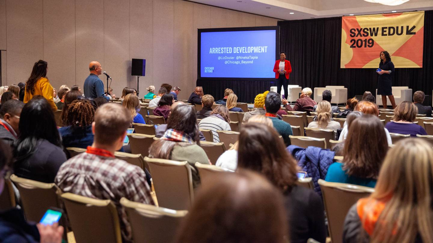 SXSW EDU 2019 session, Arrested Development: Children, Trauma, & School.
