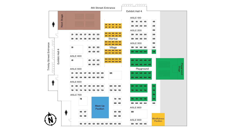 SXSW EDU 2020 Expo Map