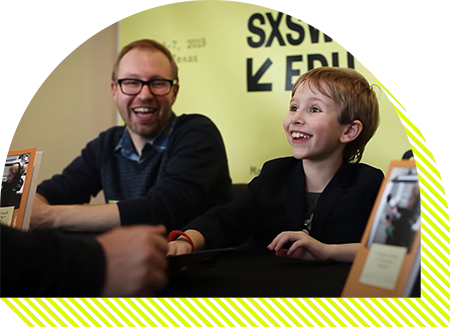 Nate Butkus Book Signing at SXSW EDU 2019.