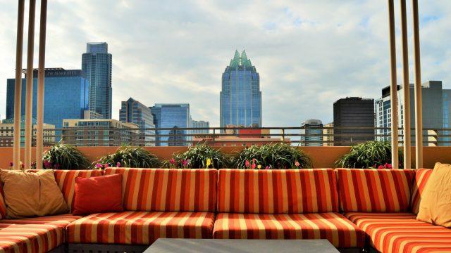 Hilton Austin Downtown hotel balcony. Photo by Nicole Burton.
