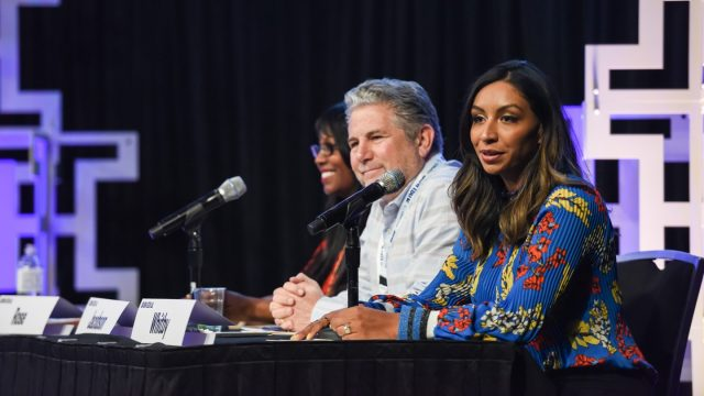 Student Startup competition judges Crystal Rose, Mitch Jacobson, and Deborah Whitby at SXSW EDU 2018.